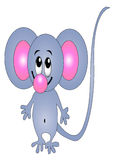 Merry mouse insulated Royalty Free Stock Photo