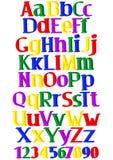 Merry multicolored alphabet Stock Photo