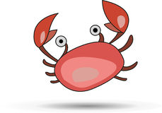 Merry painted pink crab Stock Images