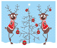 Merry Reindeer Royalty Free Stock Images