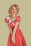 Merry retro pinup woman Stock Images