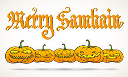 Merry Samhain greeting card Stock Photo