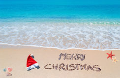 Merry sandy Christmas Royalty Free Stock Image