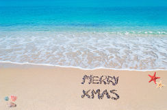 Merry sandy Xmas Stock Image