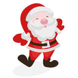 Merry Santa Claus. On a white background Stock Photography