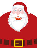Merry Santa Claus nicker and belt. Broad smile. large mouth. Mer Stock Images