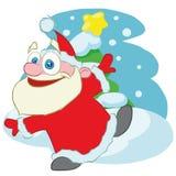 Dancing santa claus cartoon character stock illustration