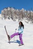 Merry skier Stock Image