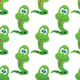 Merry snake pattern Royalty Free Stock Photos