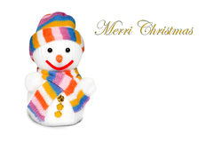 A merry snow man Royalty Free Stock Photos