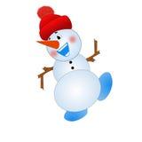 Merry snow man on a white background Royalty Free Stock Photos