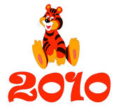 Merry tigress 2010 Stock Images