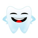 A merry tooth on a white background Stock Image