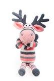 Merry toy elk Stock Photos