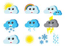 Merry weather icons Royalty Free Stock Image