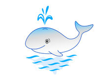 Merry whale Royalty Free Stock Image
