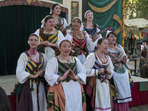 The Merry Wives of Windsor. Singers  group performing at the Renaissance Fair near San Jose California September 30 2012 Royalty Free Stock Photo