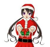 Merry X'mas anime girl Stock Photos
