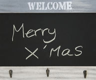 Merry x'mas message Royalty Free Stock Image