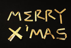 Merry x'mas text Royalty Free Stock Photography