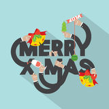 Merry X-mas Typography Design. Stock Images