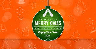 Merry Xmas Background Happy New Year Royalty Free Stock Photo