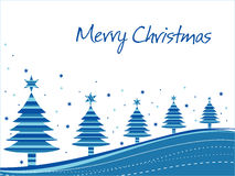 Merry xmas background with many tree Royalty Free Stock Photography