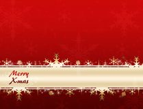 Merry xmas banner. Merry xmas red banner background stock illustration