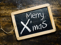Merry Xmas chalkboard greeting Royalty Free Stock Photography