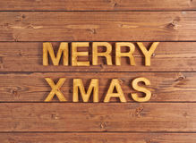 Merry Xmas composition Royalty Free Stock Image