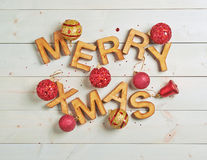 Merry Xmas composition Royalty Free Stock Images