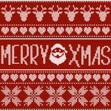 Merry Xmas Cross Stitch Royalty Free Stock Image