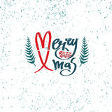 Merry Xmas design card Royalty Free Stock Photography