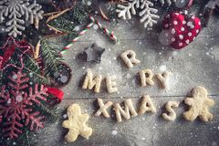 Merry Xmas cookies Stock Photography