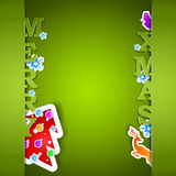 Merry Xmas green card. Eps10 vector illustration Stock Image