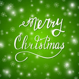Merry xmas green Royalty Free Stock Image