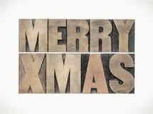 Merry Xmas greeting card Stock Photo