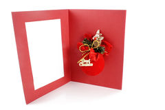 Merry xmas greeting card Stock Image