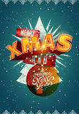 Merry Xmas and Happy New Year! Christmas poster design. Vector illustration. Eps10. Royalty Free Stock Photos