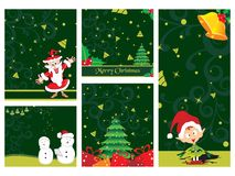 Merry Xmas And Happy New Year Collection Stock Photo