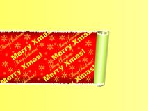 Merry Xmas message on paper tape Stock Images