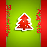 Merry Xmas paper card Royalty Free Stock Images