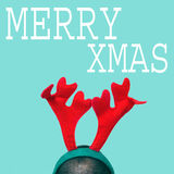 Merry xmas in a pop art style Royalty Free Stock Photos