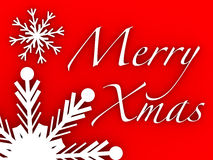 Merry xmas sign Stock Photo