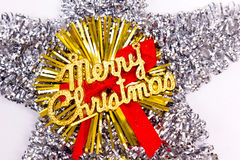 Merry xmas star. On white Royalty Free Stock Images