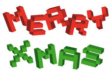 Merry xmas, vector Royalty Free Stock Images