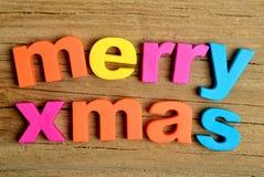 Merry Xmas word Royalty Free Stock Photo