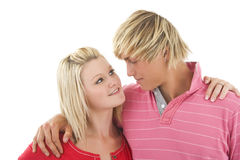 Merry young couple. Stock Images