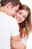 Merry young couple Royalty Free Stock Images