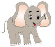 Merry young elephant Stock Photo